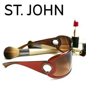 St.John  Rare Plum Color Sunglasses Made In Italy